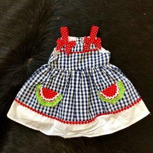 Other - Watermelon summer dress baby girl 3-6m